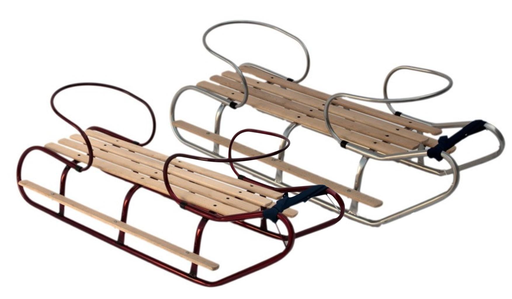 schlitten f r zwillinge geschwister mit r ckenlehne und fu st tzen metall silber ebay. Black Bedroom Furniture Sets. Home Design Ideas